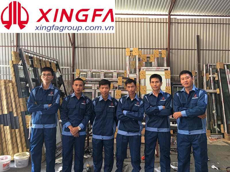 Đội ngũ thợ kỹ thuật của Xingfa Glass Việt Nam