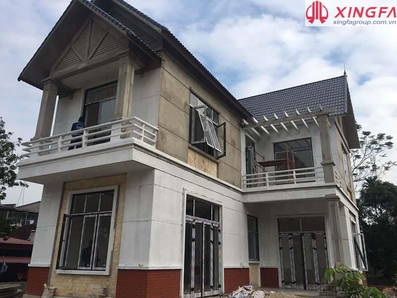Công trình cửa nhôm xingfa hoàn thiện nhà Mr Hưng