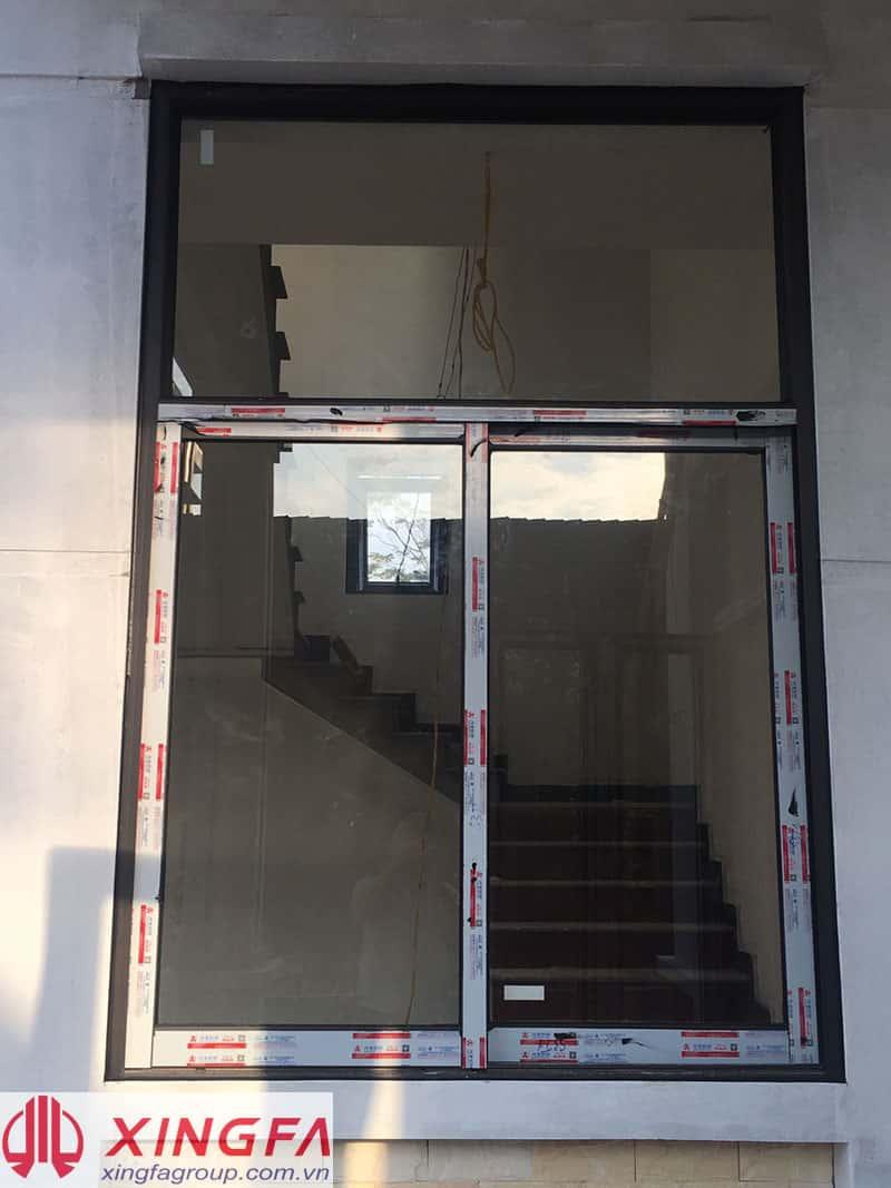 Cửa sổ mở trượt 2 cánh nhôm xingfa