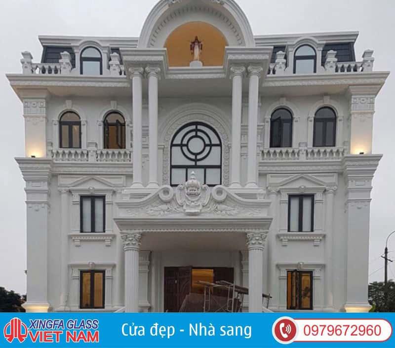 Công Trình Cửa Nhôm Xingfa Uốn Vòm Tại TP Việt Trì Phú Thọ