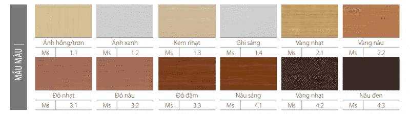 cách lựa chọn màu sắc cửa gỗ huge