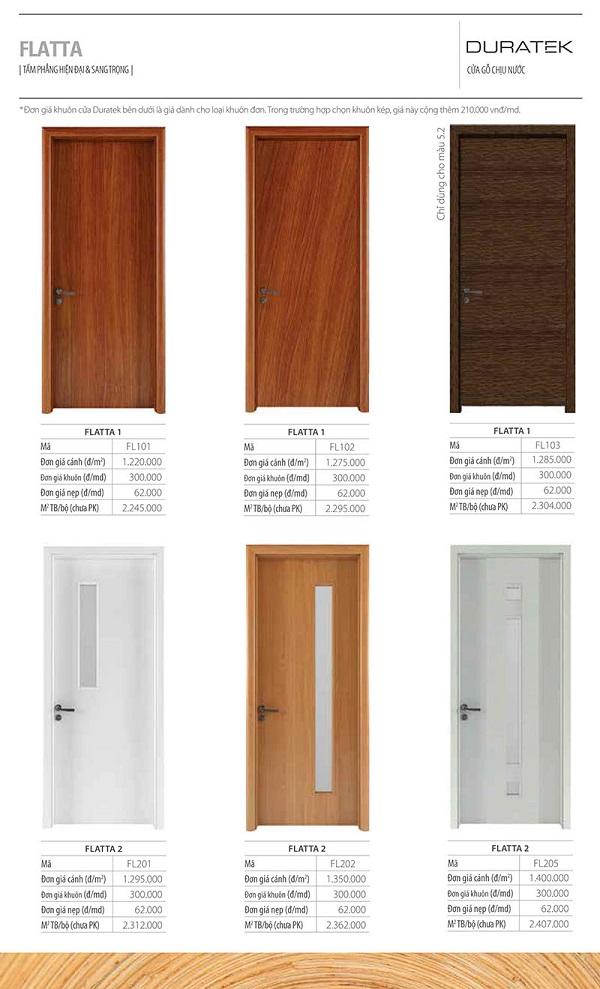 cửa gỗ duratek flatta