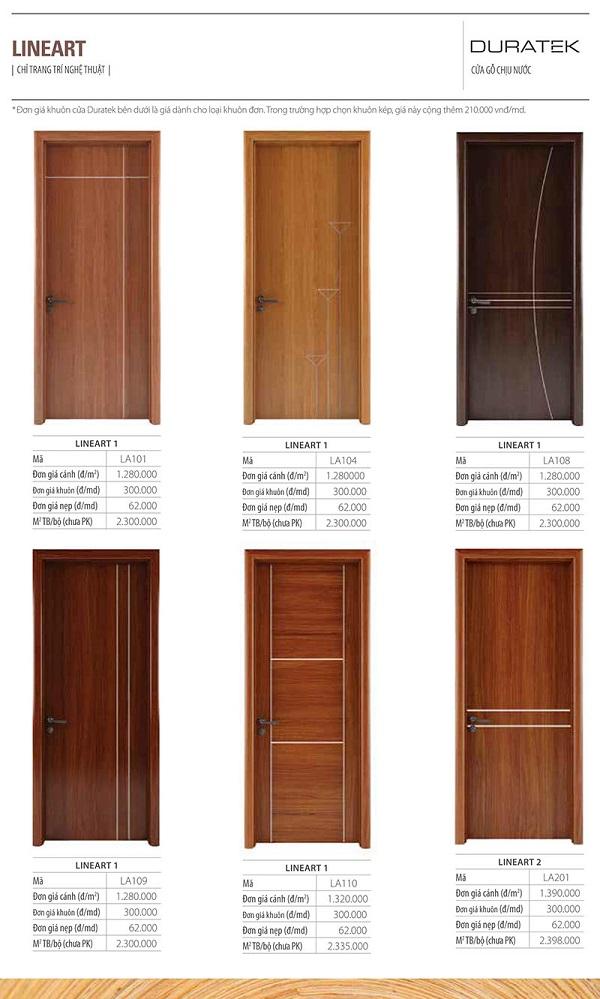 Cửa gỗ duratek line art