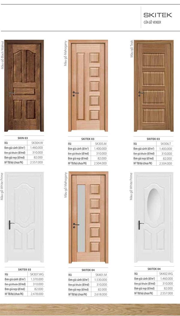 cửa gỗ công nghiệp skitek