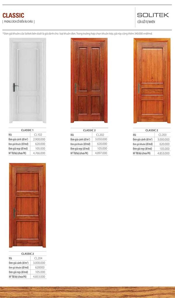 cửa gỗ công nghiệp solitek