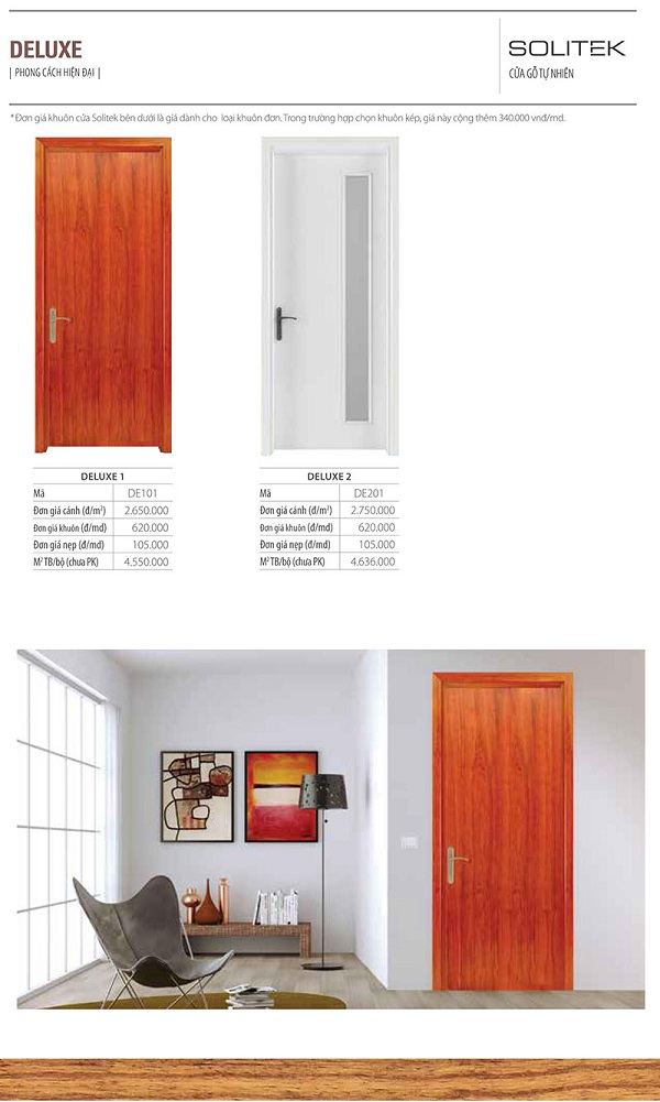 cửa gỗ công nghiệp solitek deluxe