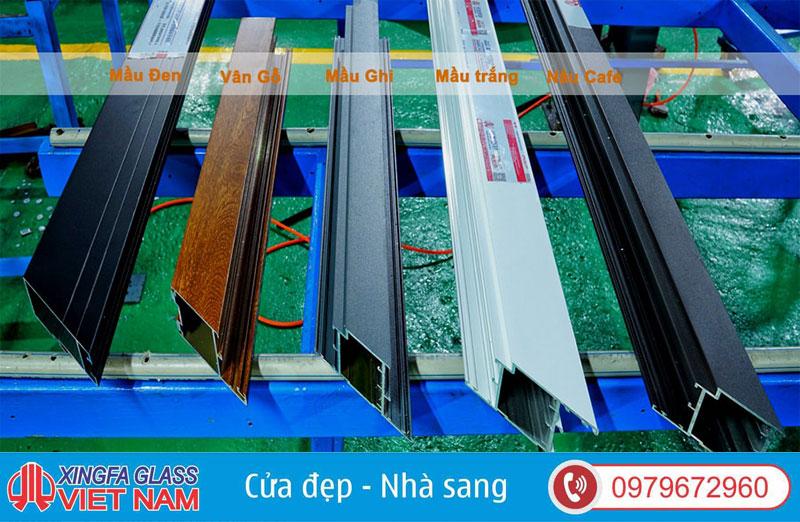 Các màu nhôm Xingfa chính hãng tiêu chuẩn đang được sử dụng hiện nay trên thị trường