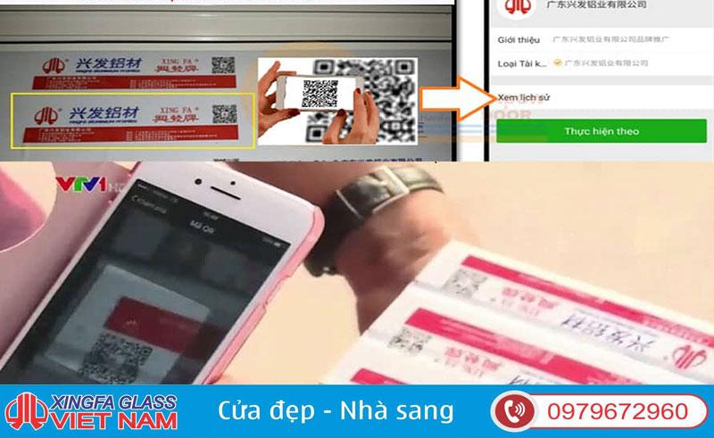 Check Mã Code-QR Phân Biệt Nhôm Xingfa Nhập Khẩu Chính Hãng 100% Tem Đỏ Quảng Đông