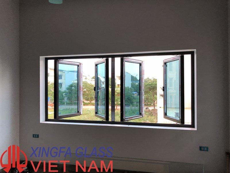 Mẫu cửa sổ mở quay nhôm Xingfa