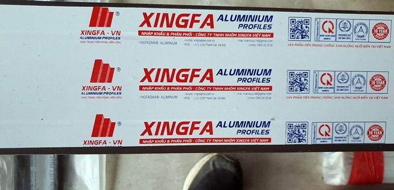 Thanh nhôm Xingfa chưa Rõ Nguồn gốc xuất sứ nhập khẩu hay Sản xuất trong nước