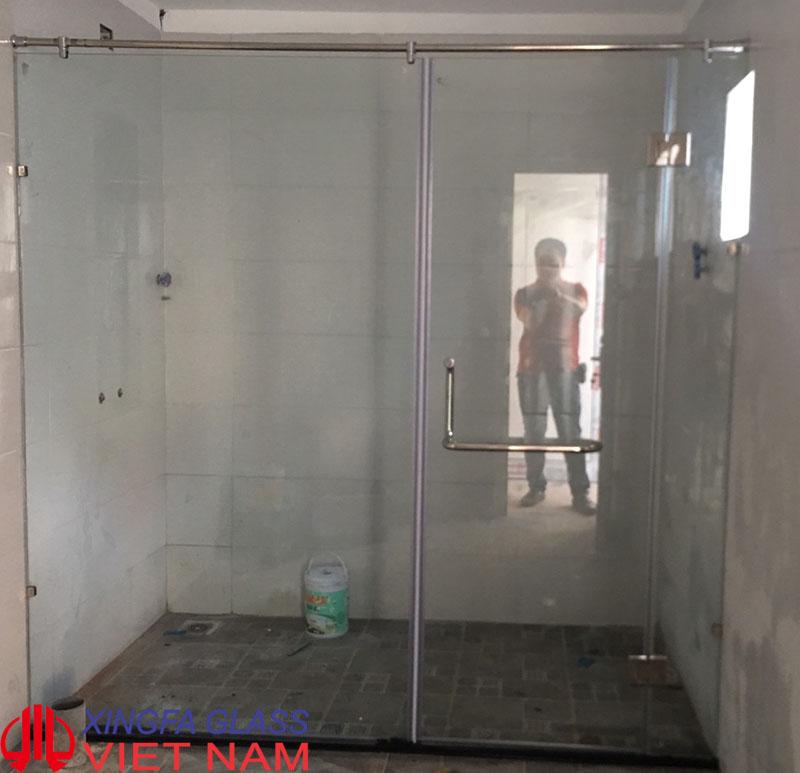 Vách kính cabin phòng tắm kính cường lực 10mm