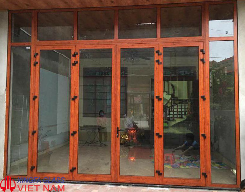 Mẫu Cửa Nhôm Xingfa Vân Gỗ