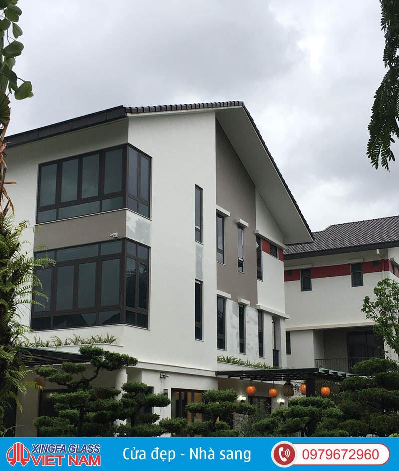Biệt Thự Tại Gamuda Hà Nội Sử Dụng Cửa Nhôm Roto Cao Cấp Đồng Bộ