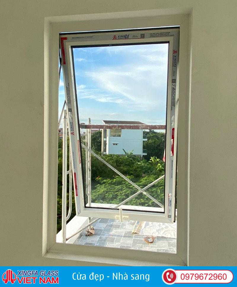 Cửa sổ mở hất 1 cánh nhôm xingfa hệ 55