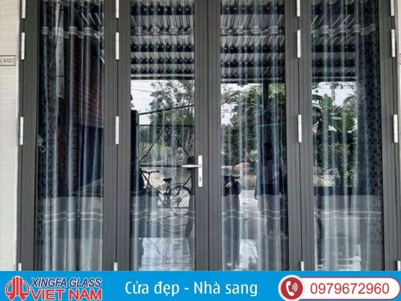Cửa chính nhôm kính Xingfa cấu tạo chắc chắn
