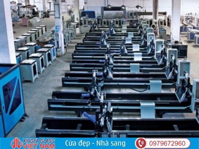 Trang thiết bị công nghệ hỗ trợ giúp kiến tạo nên cửa Xingfa chất lượng
