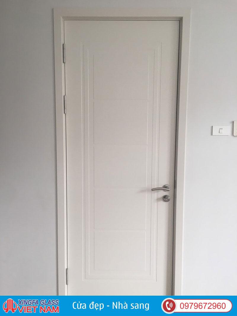 Cửa gỗ Duratex màu trắng