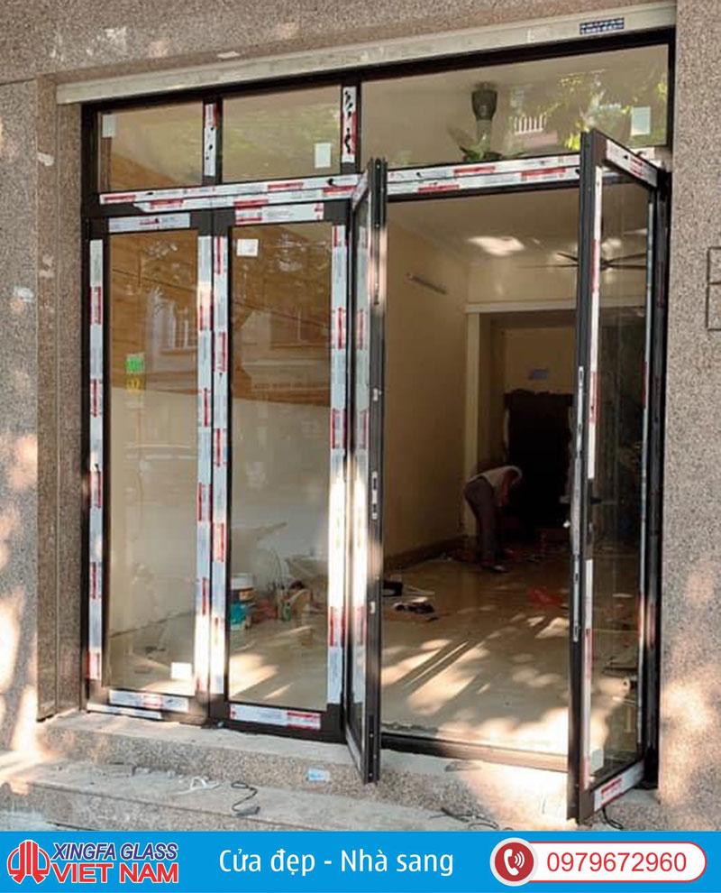 Mẫu cửa nhôm 4 cánh xingfa xếp gấp