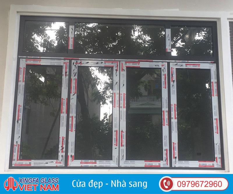 Mẫu cửa sổ xingfa 4 cánh mở hất