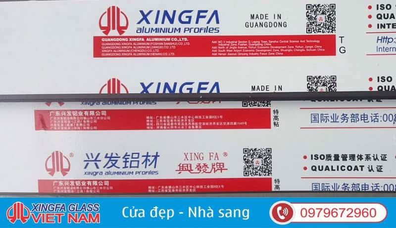 Kiểm tra cửa nhôm Xingfa thật giả bằng trực quan qua tem nhãn cực kỳ đơn giản