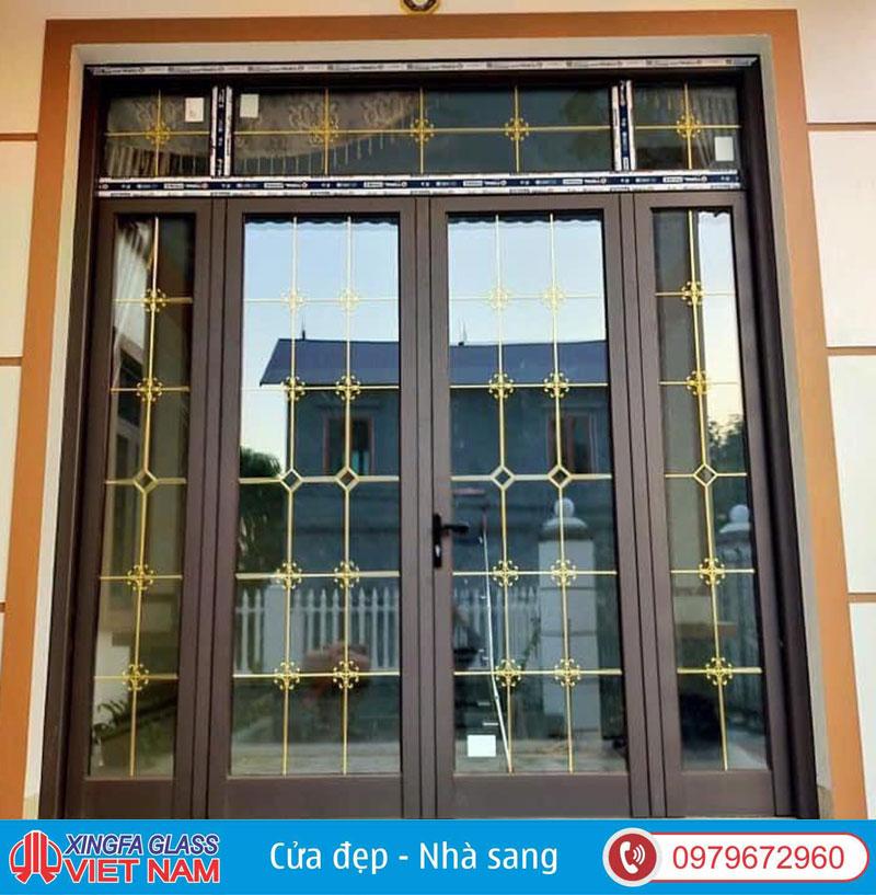 Cửa Nhôm Xingfa Dùng Kính Hộp Nan Đồng Trang Trí Không Có Tính Năng Bảo Vệ An Toàn