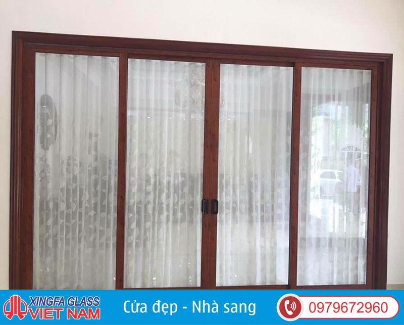 Cửa nhôm Xingfa sơn vân gỗ có tính thẩm mỹ cao