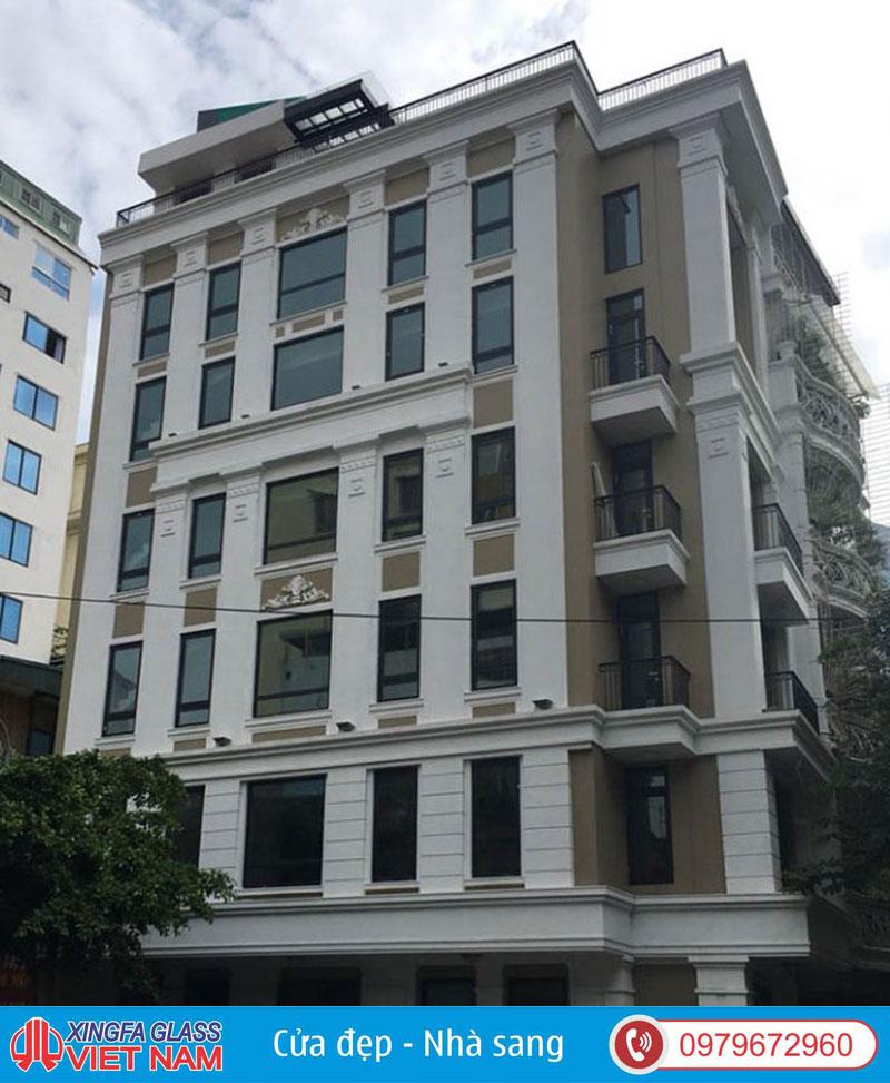 Khách Sạn Số 10 Phố Bảo Khánh Hà Nội Sử Dụng Cửa Nhôm Xingfa Tem Đỏ Chính Hãng