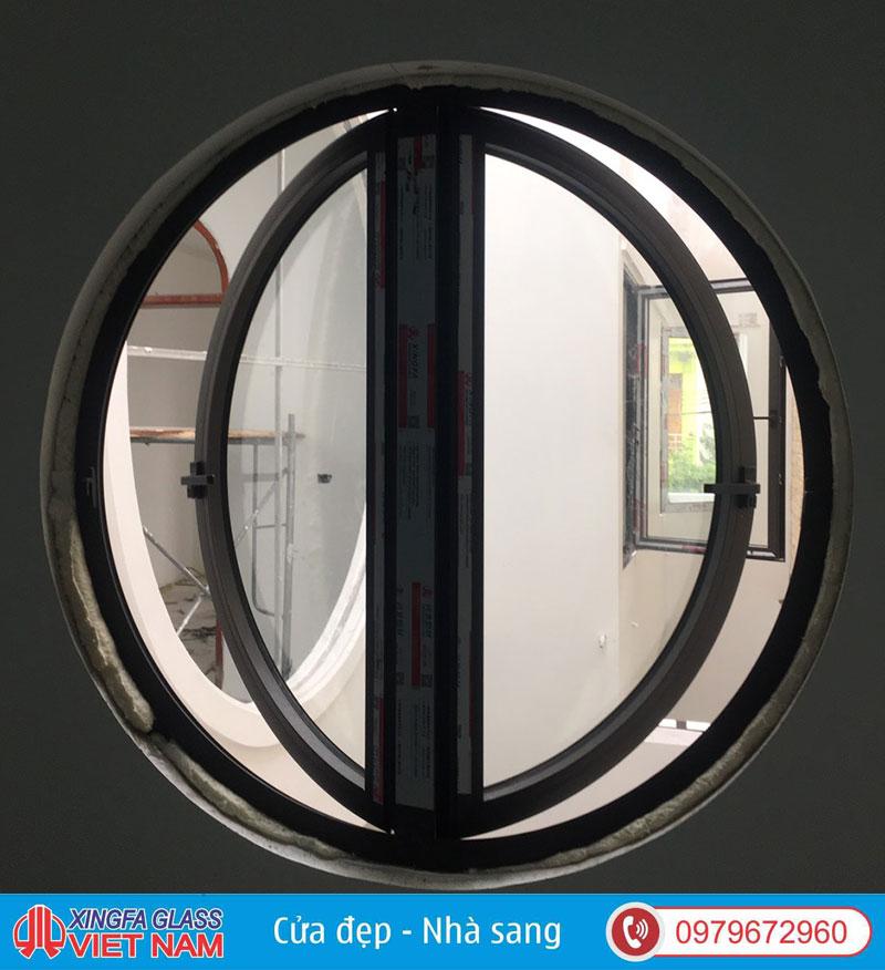 cửa nhôm uốn vòm cong