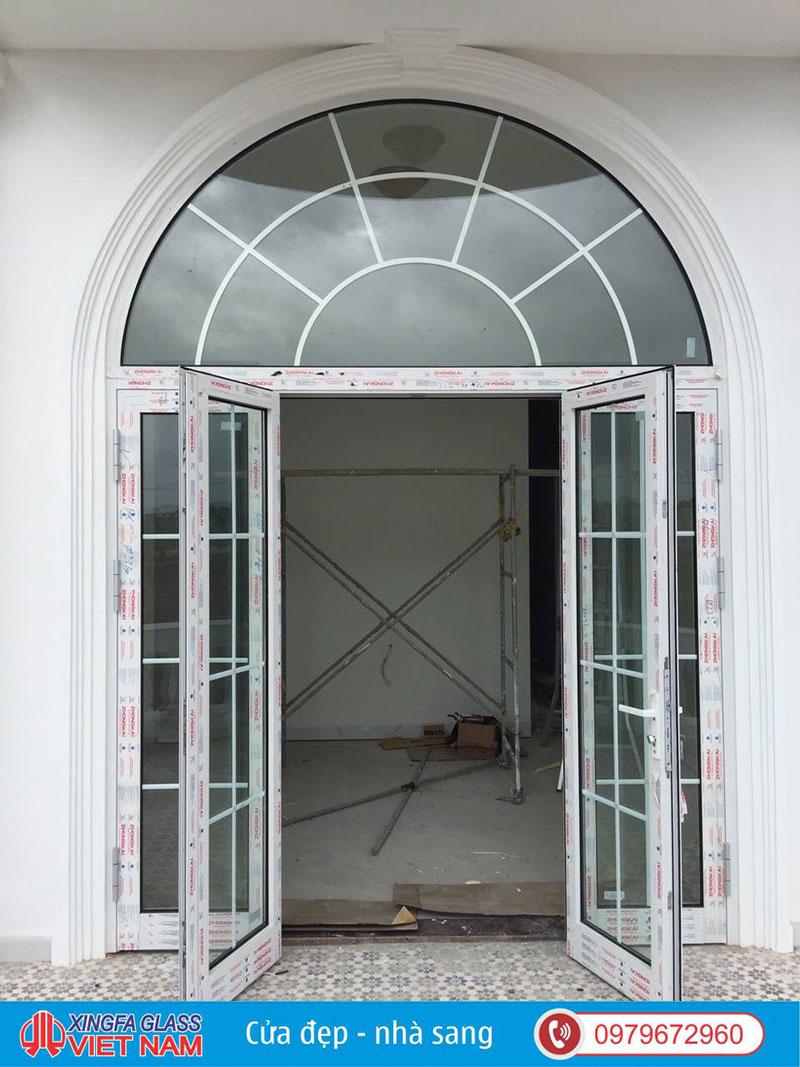 cửa nhôm xingfa uốn vòm cong